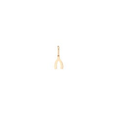 14k midi bitty wishbone charm