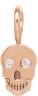 14k midi bitty diamond eye skull charm pendant