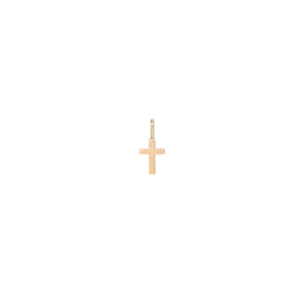 Zoë Chicco 14kt Gold Medium Cross Charm Pendant