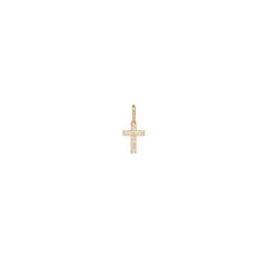 Zoë Chicco 14kt Gold Medium Pave Diamond Cross Charm Pendant