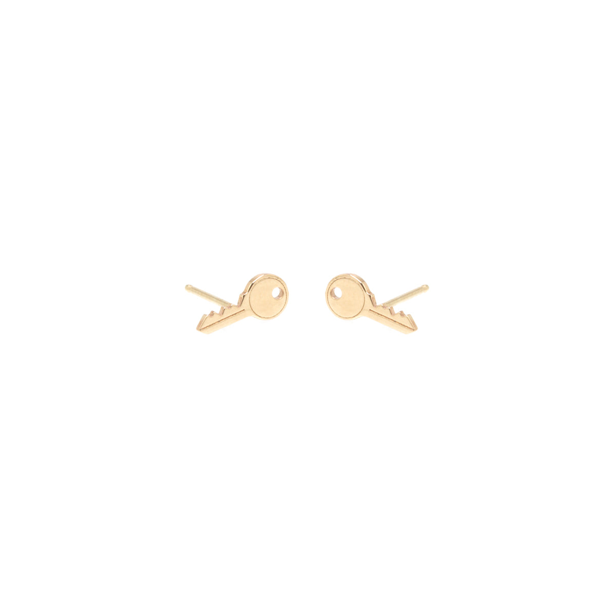 14k midi bitty key stud