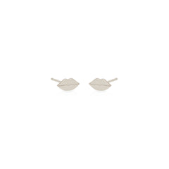 14k midi bitty lips studs