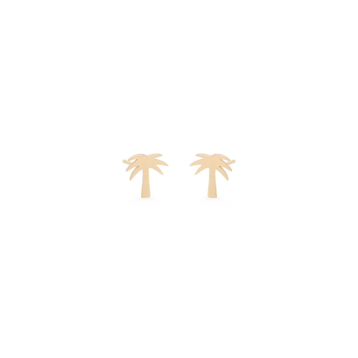 14k midi bitty palm tree stud