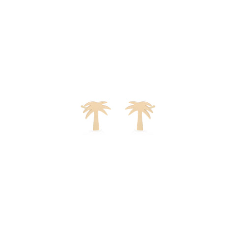 14k midi bitty palm tree studs