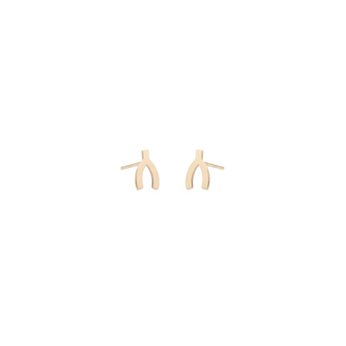 14k midi bitty wishbone studs