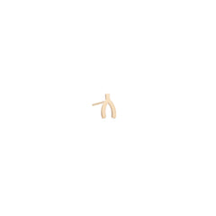 14k midi bitty wishbone stud