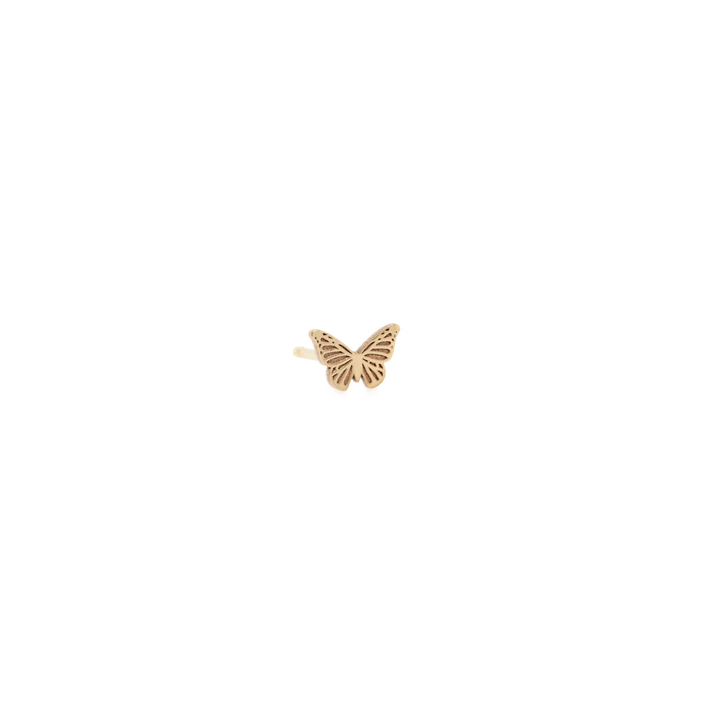 14k midi bitty butterfly stud