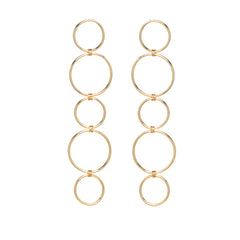 14k mixed six circle earrings