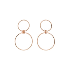 14k mixed circle earrings