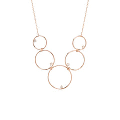 14k graduated linked circles necklace