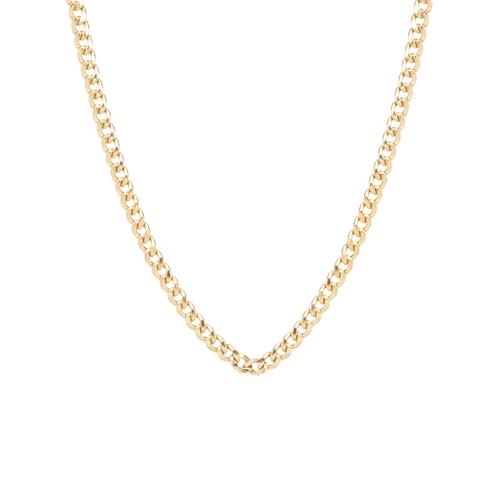 14k gold medium curb chain necklace