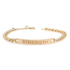 14k medium curb chain Personalized ID bracelet