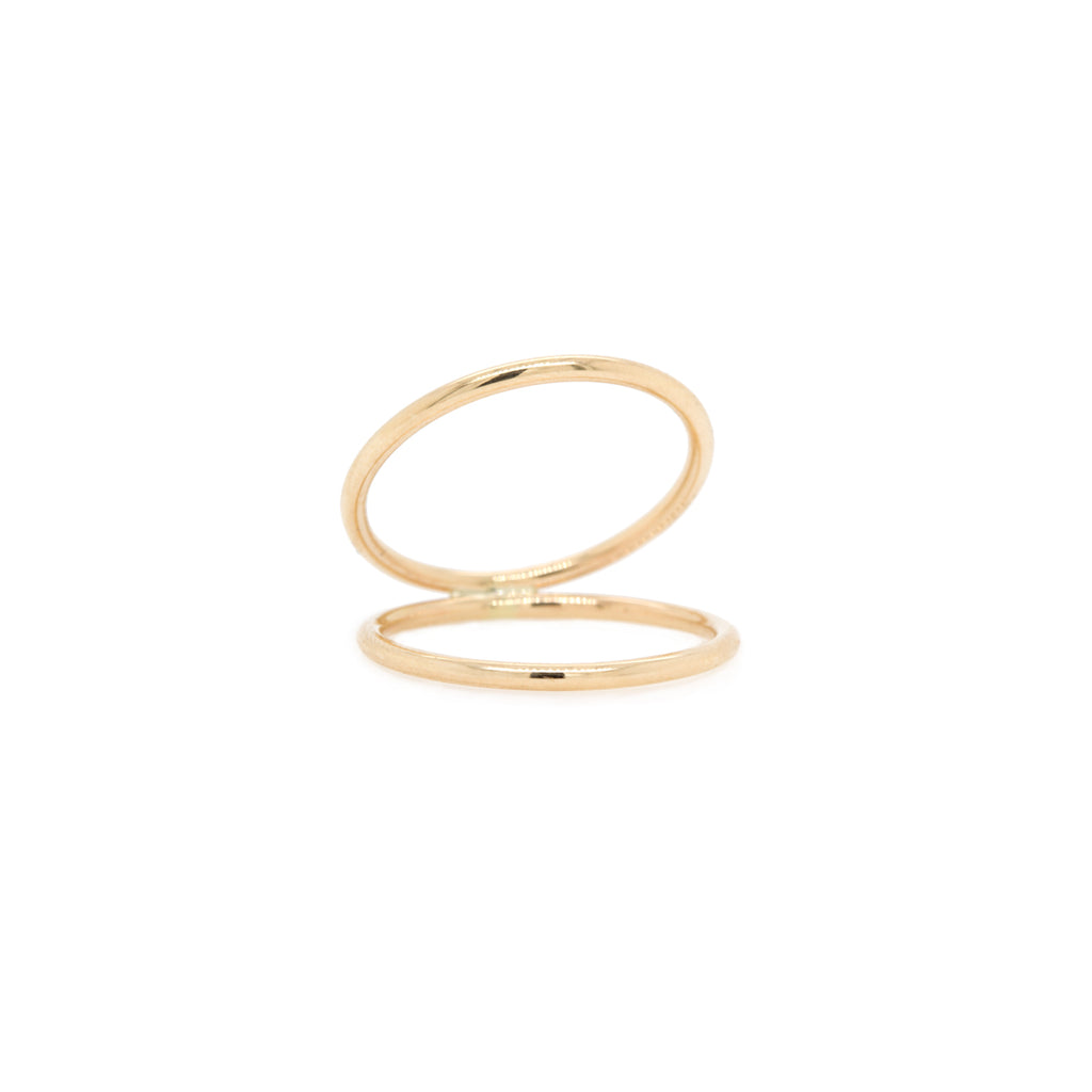 14k open round band ring