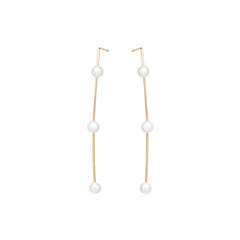 Zoë Chicco 14k Yellow Gold 3 Pearl Wire Earrings