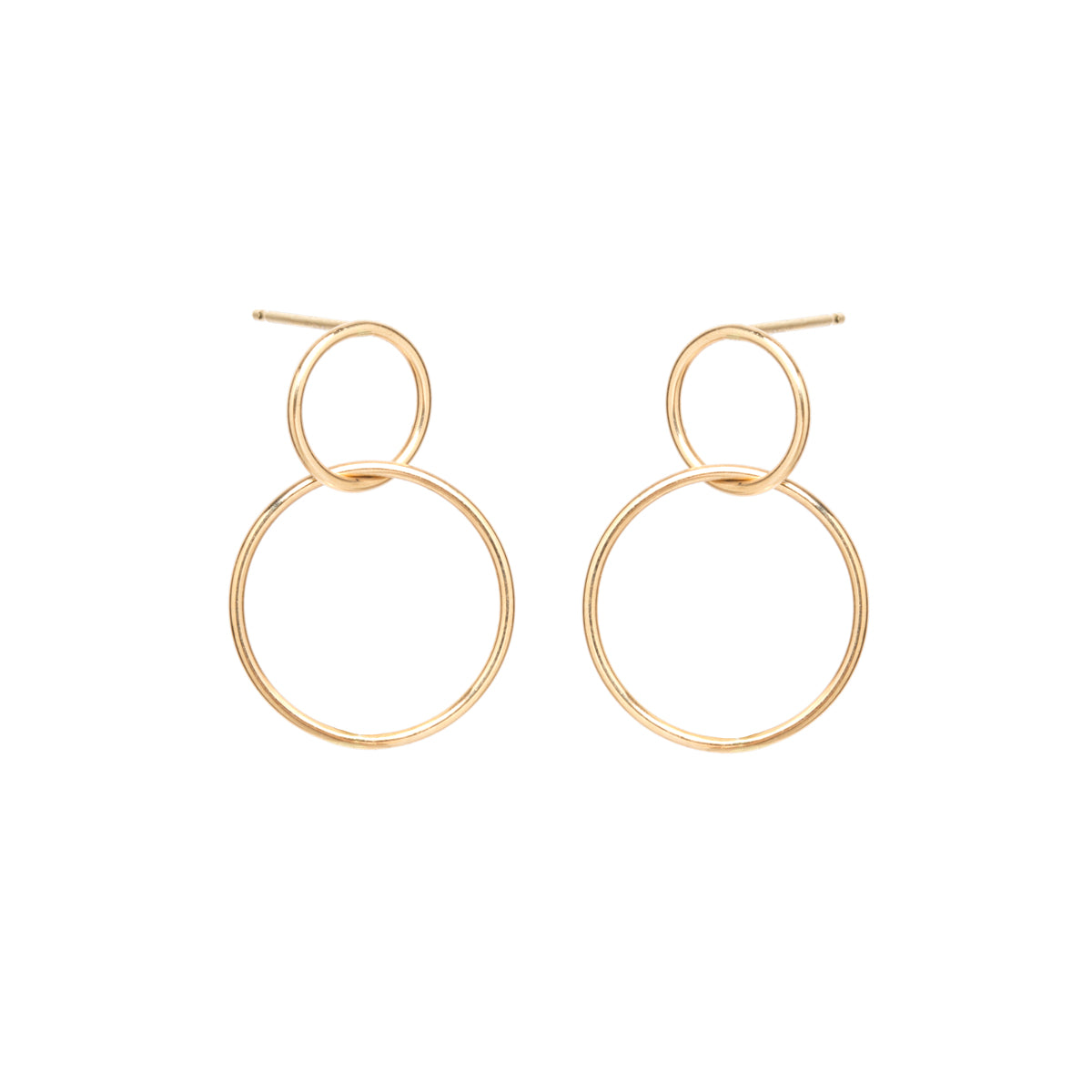 Zoë Chicco 14kt Yellow Gold Double Circle Hoop Earrings
