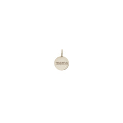 14k single small personalized disc charm pendant