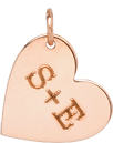 14k medium heart charm pendant with initials engraved