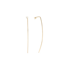 14k prong set diamond stud wire earrings