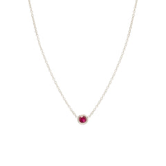 14k single ruby choker necklace