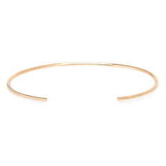 14k gold thin round wire cuff