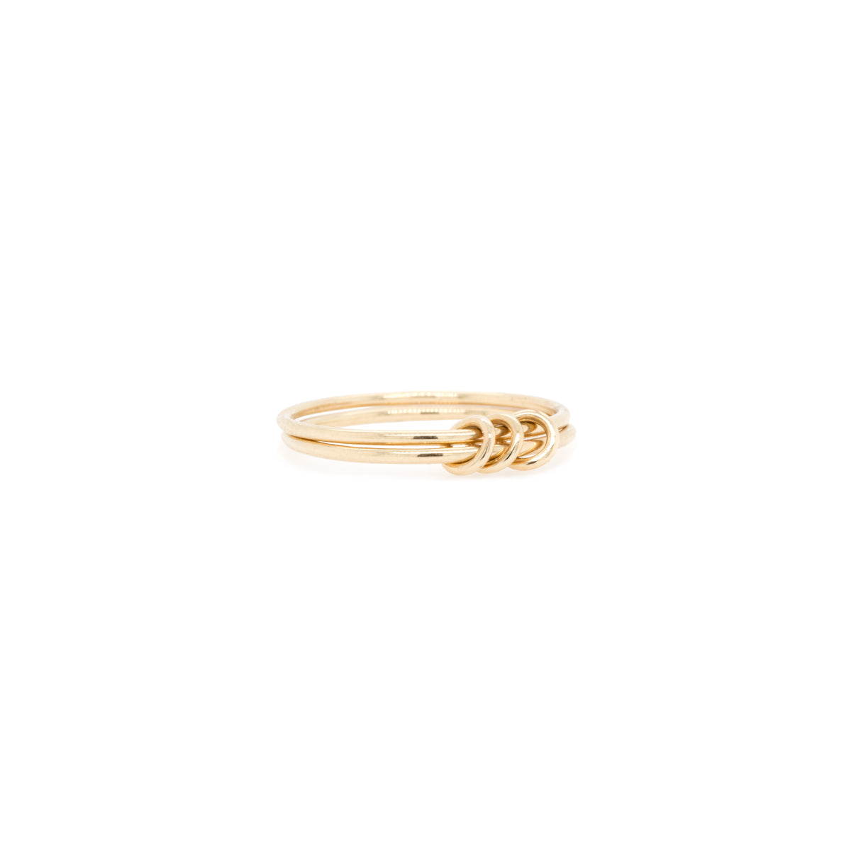 14k 2 thin linked rings