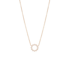 Zoë Chicco 14kt Rose Gold Small Bezel Circle Necklace