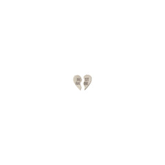 14k itty bitty split BEST BABE studs