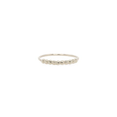 14k bead bar stacking ring