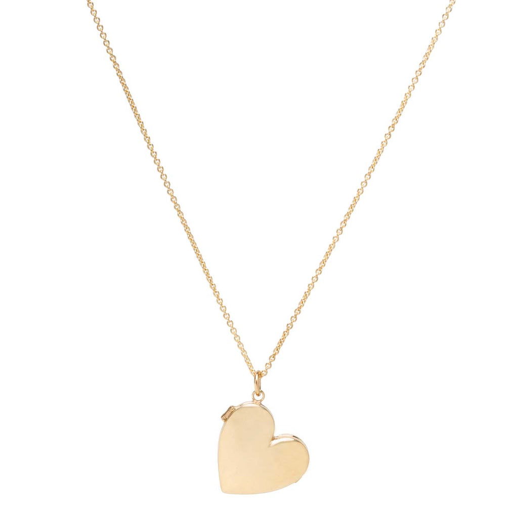 14k heart shaped locket necklace