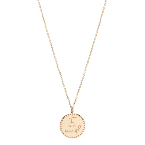 14k Rose Gold Tiny Engravable Heart Pendant Cable Chain Necklace