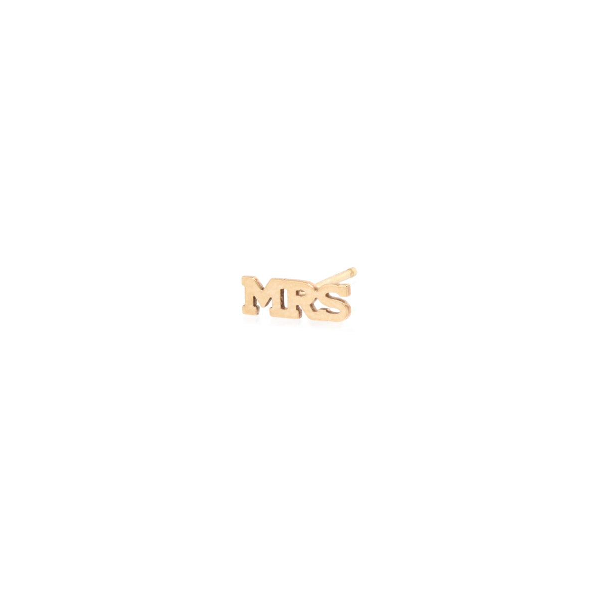 14k itty bitty MRS stud