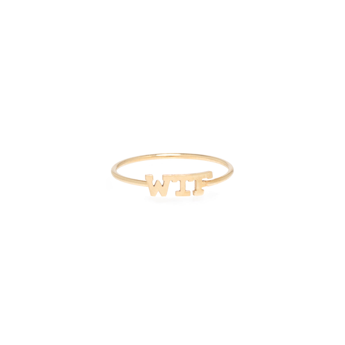 14k itty bitty WTF ring