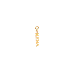 14k single tiny MAMA charm pendant
