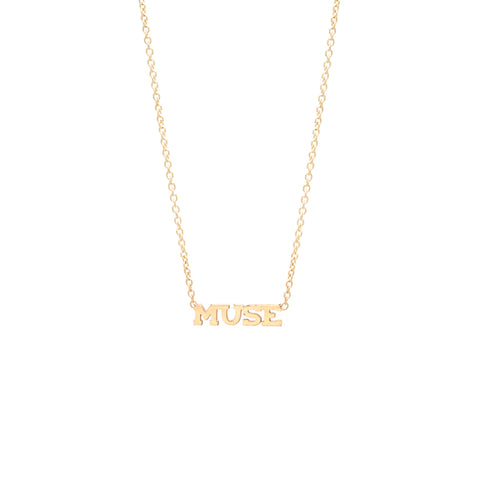14k itty bitty MUSE necklace