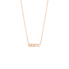 14k itty bitty HOPE necklace
