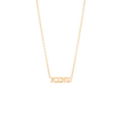 14k itty bitty KIND necklace