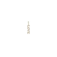 14k single tiny LOVE charm pendant