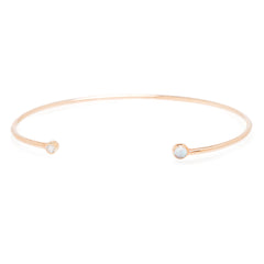 Zoë Chicco 14kt Rose Gold Diamond and Opal Open Cuff
