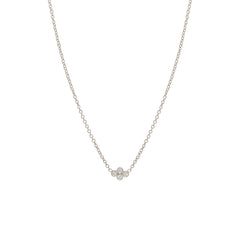 14k tiny bezel diamond quad necklace
