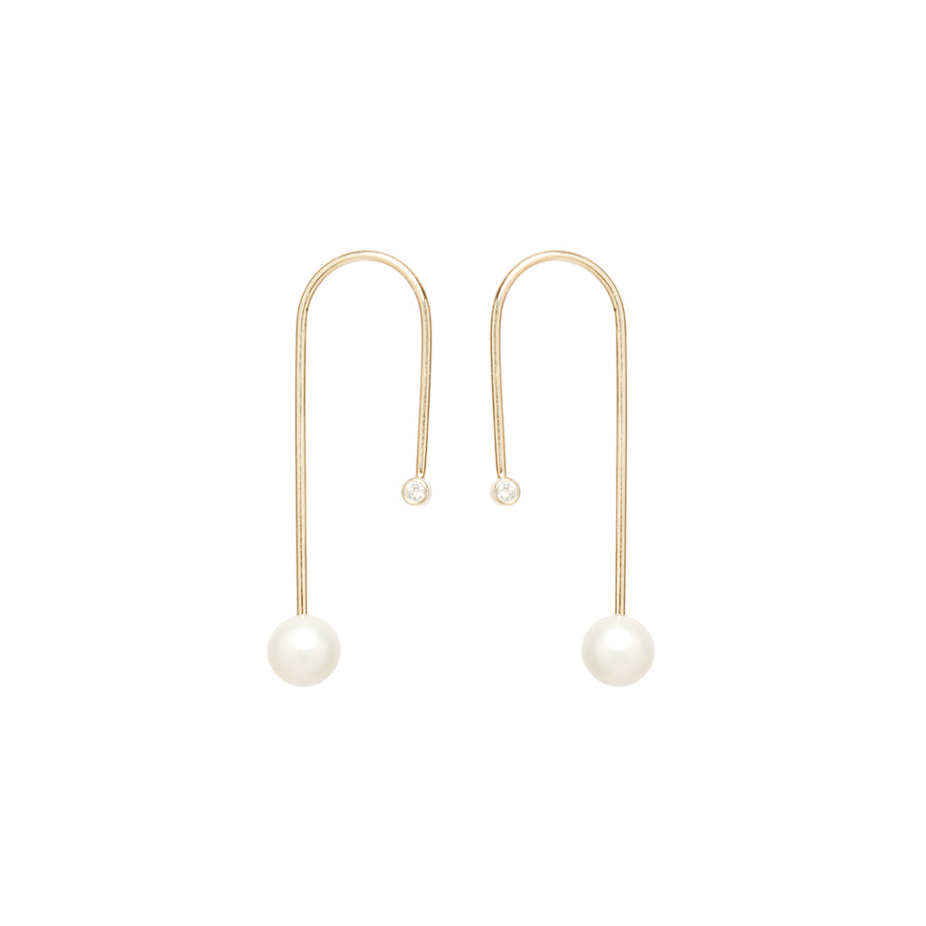 14k u turn wire earrings