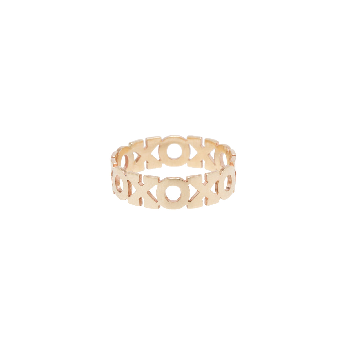 14k XO eternity ring