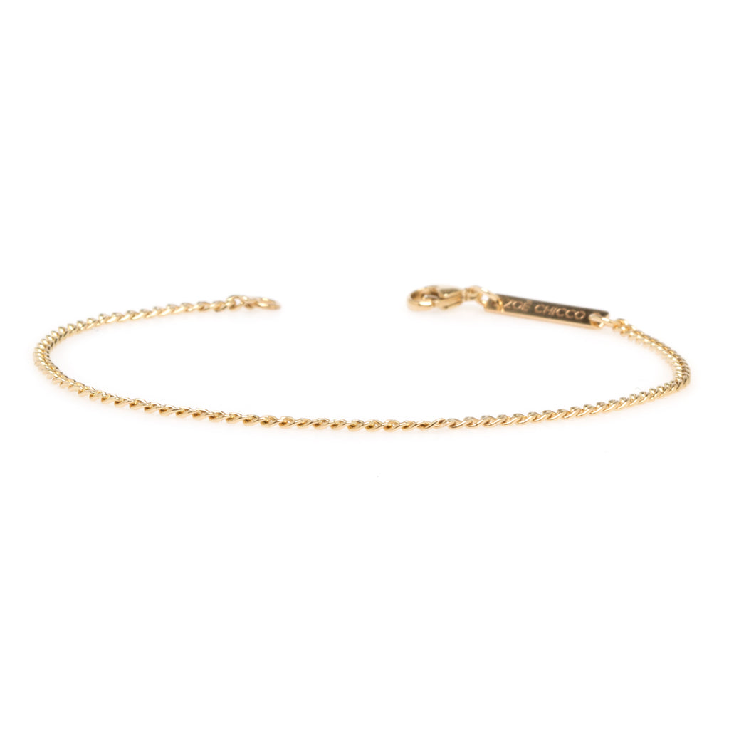 14k extra small curb chain bracelet