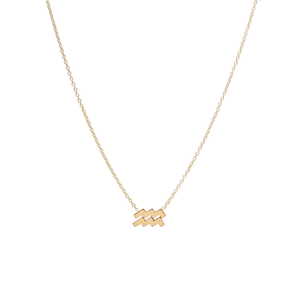 14k midi bitty zodiac necklace