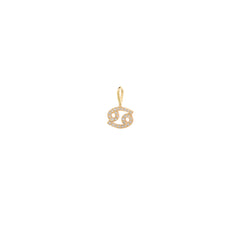 14k midi bitty pave diamond zodiac charm