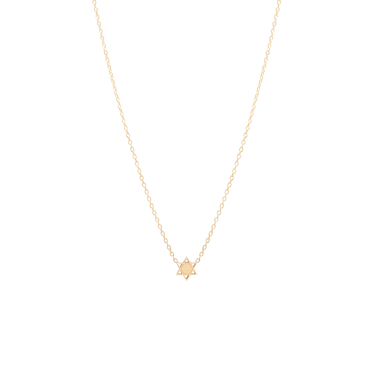 14k itty bitty star of david necklace