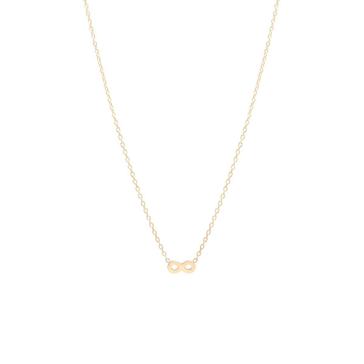 14k itty bitty infinity necklace