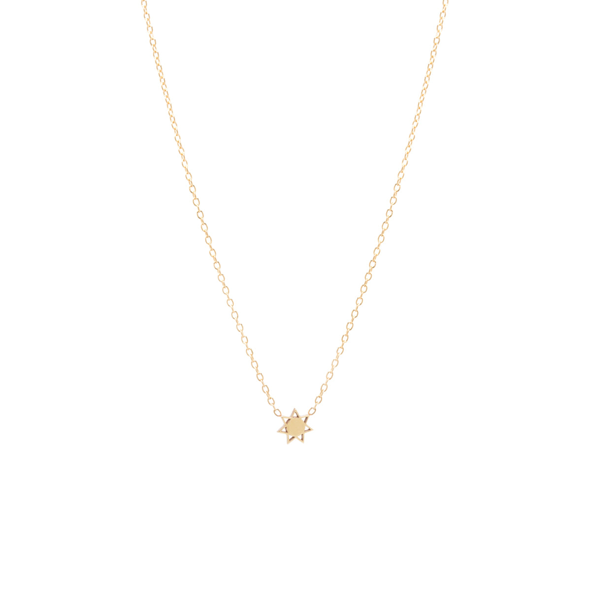 14k itty bitty sun necklace