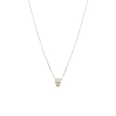 14k itty bitty skull necklace