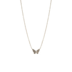 14k itty bitty butterfly necklace