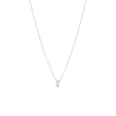 14k itty bitty female symbol necklace